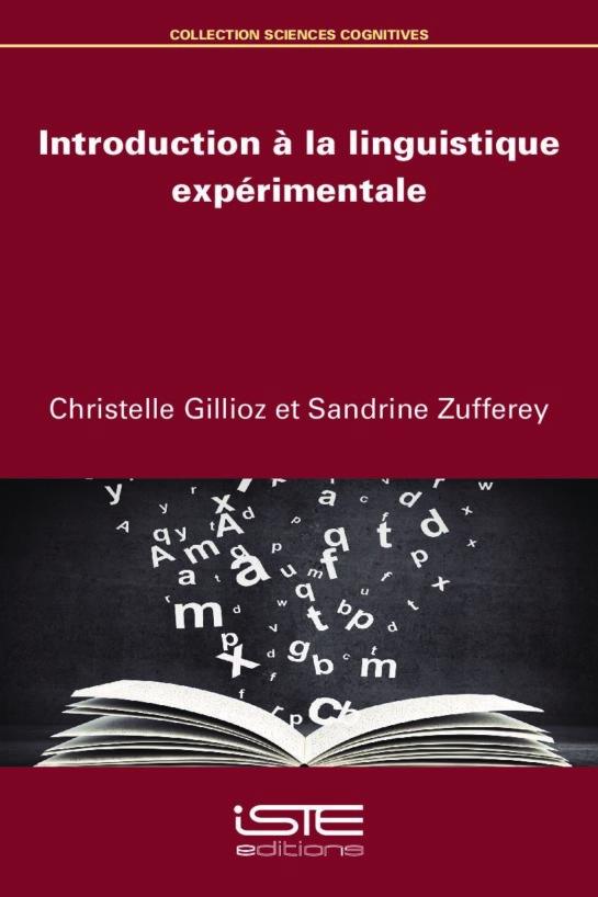 Livre scientifique - Introduction à la linguistique expérimentale - Christelle Gillioz et Sandrine Zufferey