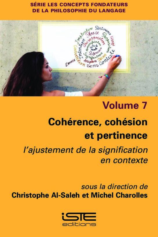 Livre scientifique - Cohérence, cohésion et pertinence - Christophe Al-Saleh et Michel Charolles