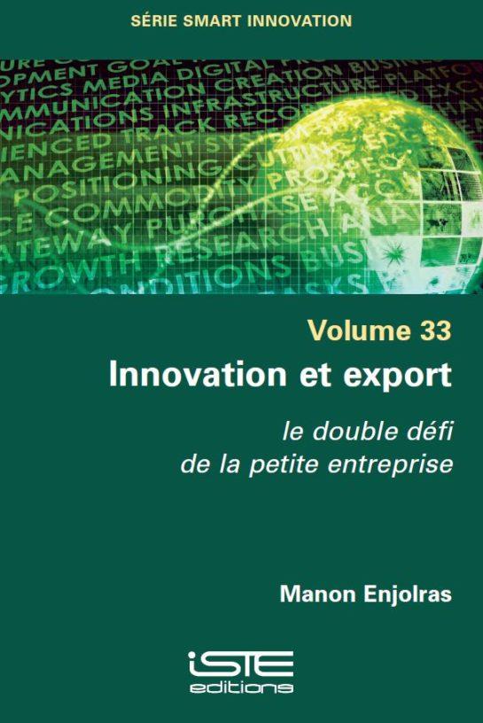 Livre scientifique - Innovation et export - Manon Enjolras